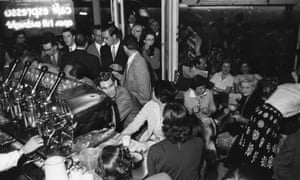 When coffee was cool … the Moka Bar in Soho in the 1950s.