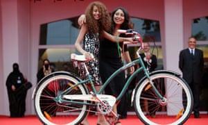 Actor Waad Mohammed and director Haifaa al-Mansour at Venice film festival