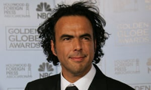 """Alejandro Inarritu poses with the award for best motion picture drama for his work on """"Babel,"""" at the 64th Annual Golden Globe Awards on Monday, Jan. 15, 2007, in Beverly Hills, Calif."""