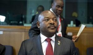 Burundi's president Pierre Nkurunziza.