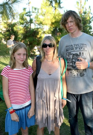 Kim Gordon, Thurston Moore and daughter Coco Hayley Gordon Moore in 2005.