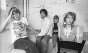 Sonic Youth in the Netherlands in 1986.