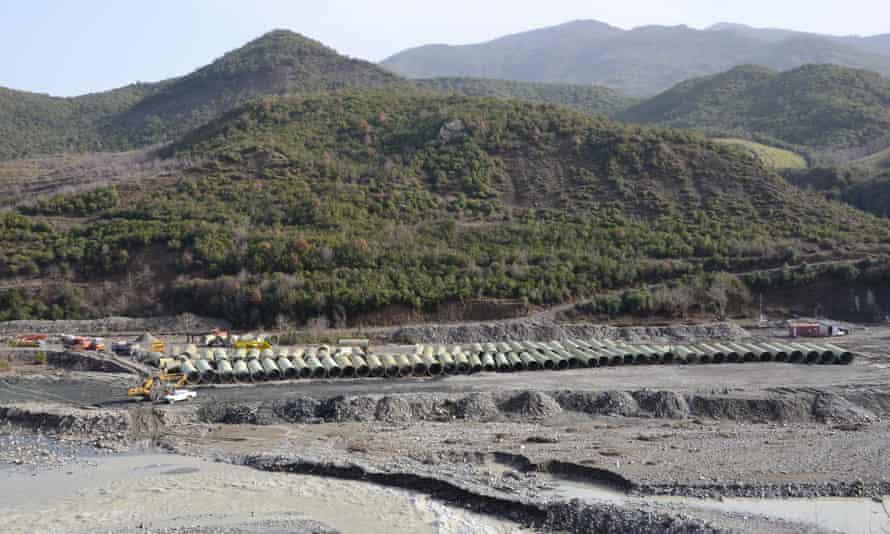 Dam on the river Vjosa near Permet, Albania