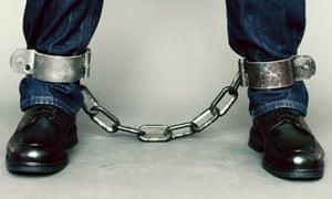 man shackles