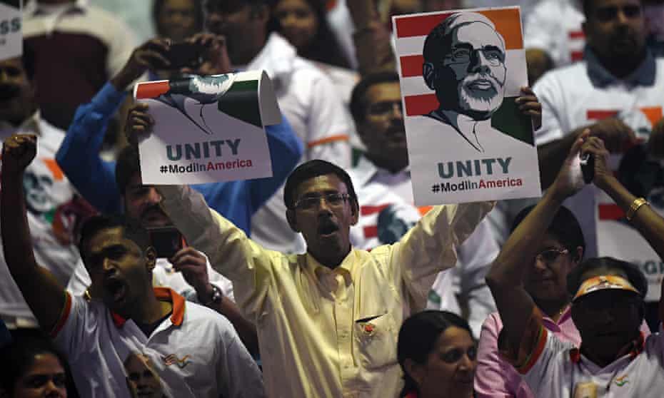 Modi supporter at Madison Square Garden, US
