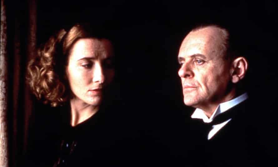Emma Thompson and Anthony Hopkins in The Remains of the Day (1993).