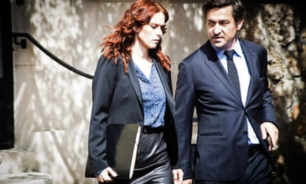 Karlsson (Audrey Flerout) and Edelman (Louis-Do de Lencquesaing): everyone uses 'vous' with lawyers.