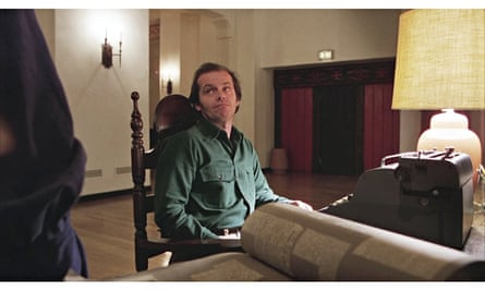 The horror of the blank page … Jack Nicholson at his typewriter in The Shining