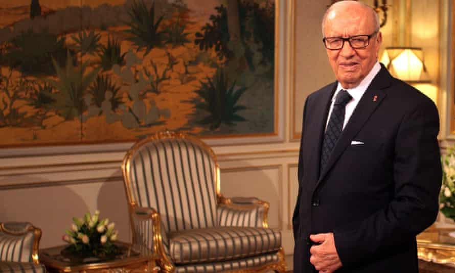 The Tunisian president, Beji Caid Essebsi.