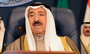 Kuwait's emir, Sheikh Sabah Al-Ahmad Al-Jaber Al-Sabah.