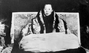 The boy Dalai Lama, Tenzin Gyatso, at Lhasa in November 1950