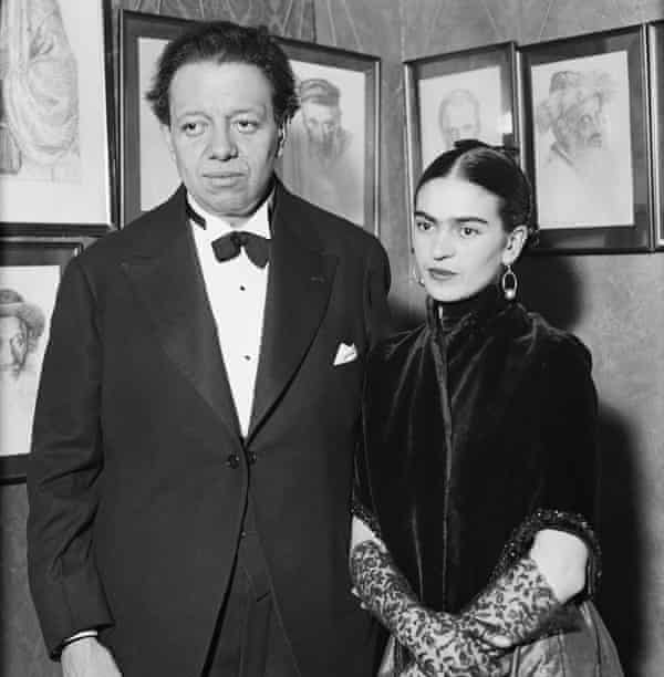 Artists Diego Rivera and Frida Kahlo in the early 1930s