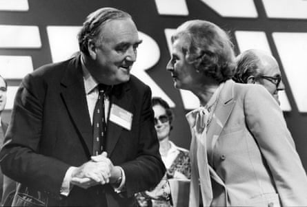 Willlie Whitelaw and Margaret Thatcher at the Conservative Party conference