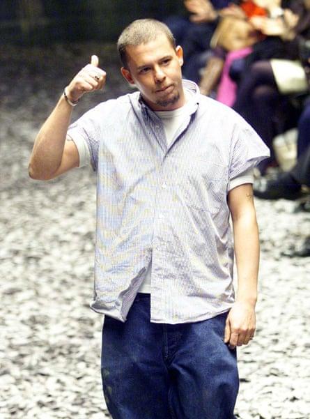 Alexander McQueen after a show.
