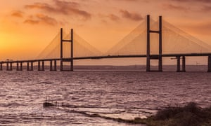 The Second Severn Crossing between Wales and England.