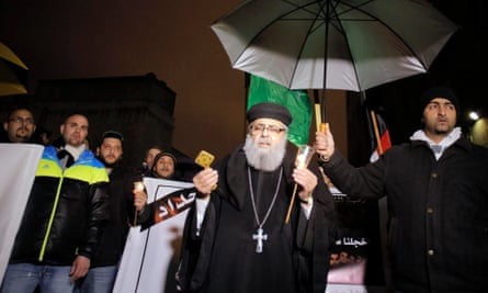 Priest Egyptian Coptic Christians killed Isis funeral