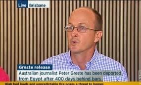 Andrew Greste speaks in Brisbane
