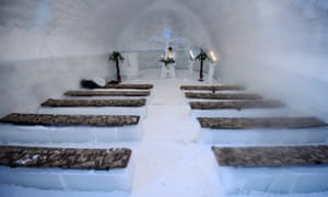 The Ice Church is located at 2,000m above sea level in the Carpathian mountains of Transylvania.