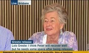 Lois Greste in Brisbane