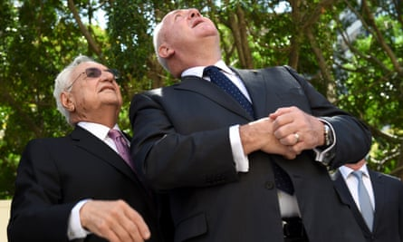 Architect Frank Gehry (left) and the Governor-General of the Commonwealth Of Australia, Peter Cosgrove