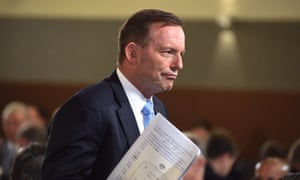 Tony Abbott at the press club in Canberra.