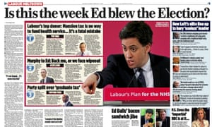The Mail on Sunday's double page spread