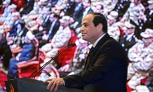 Egypt president Abdel Fatah al-Sisi, who says the Muslim Brotherhood pose a major security threat.