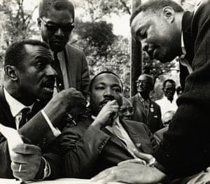 HUMAN RIGHTS HUMAN WRONGS Martin L King, Birmingham, Alabama, US, December 1965, by Bob Fitch