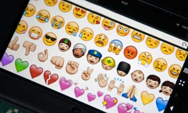 A selection of emojis. Not to be confused with emoticons.