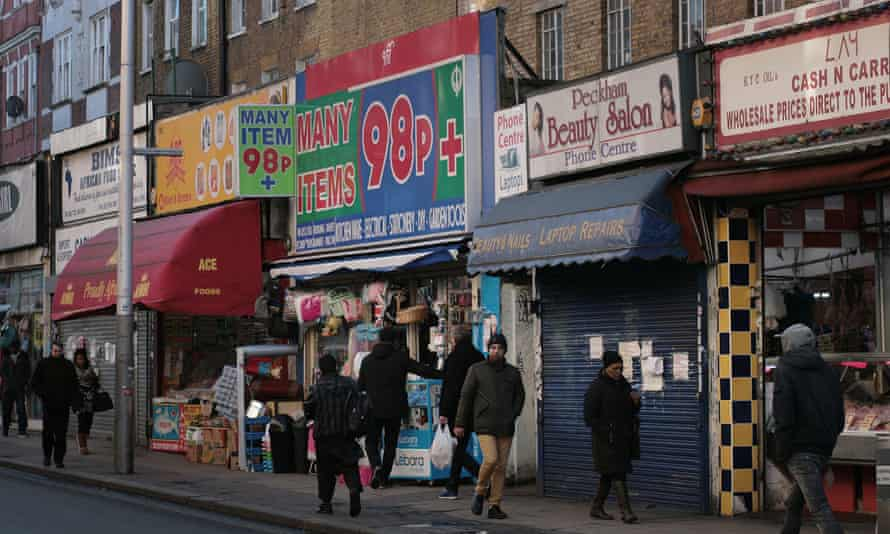 Independent shops in Peckham, south London