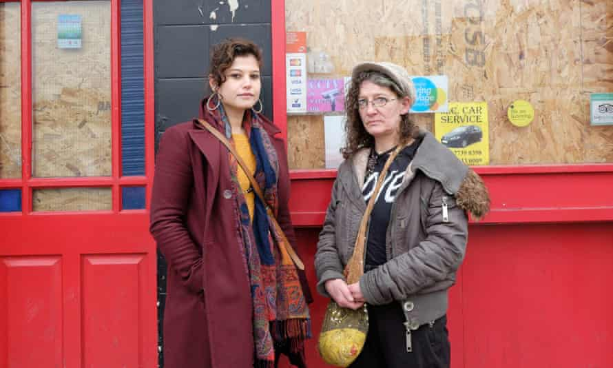 Charlotte Gerada, left, and Jane Clendon are campaigning to save the Joiners Arms in Hackney, east London as a bar and community space.