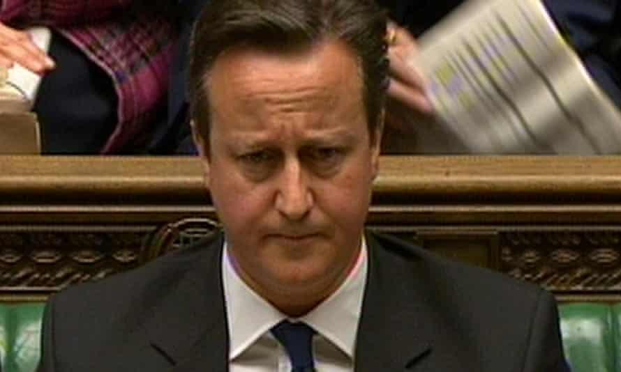 Encryption novice … David Cameron. Photograph: PA