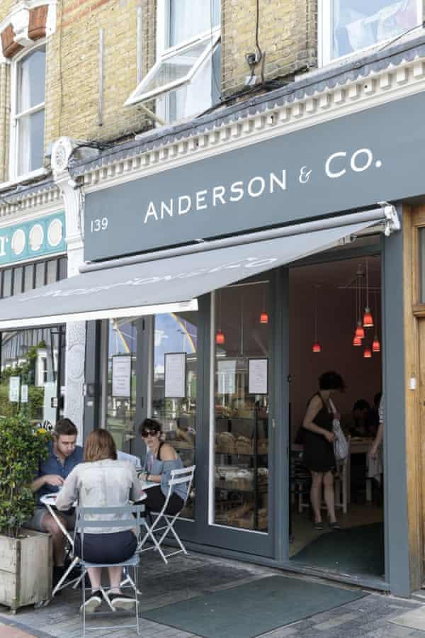 Anderson & Co cafe and restaurant on Bellenden Road, Peckham, London.
