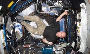 NASA astronaut Scott Kelly on board the International Space Station in 2010.