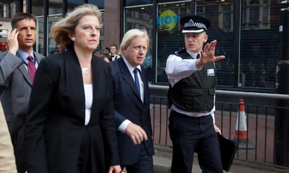 Theresa May and Boris Johnson visit Clapham