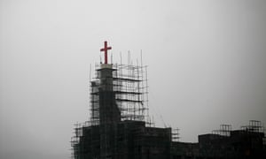 A church under construction in Wenzhou, where about an eighth of 8 million residents are Christian