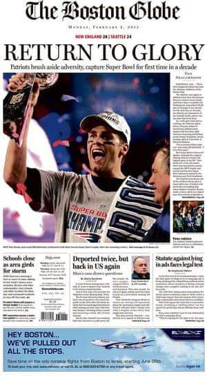 Super Bowl XLIX newspaper front pages   Sport   The Guardian