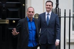 George Osborne meets Greek finance minister Yanis Varoufakis.