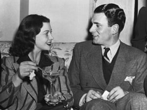 Vivien Leigh and Laurence Oliver in Atlanta for the premiere of Gone with the Wind/