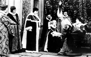 Shot in Paris in 1912, The Loves of Elizabeth, Queen of England was a short 4-reel French silent film based on the love affair between Elizabeth I of England and the Earl of Essex