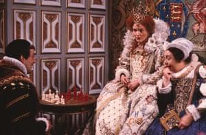 Miranda Richardson Elizath I was portrayed hilariously as Queenie in the 1985 BBC comedy sitcom Blackadder II