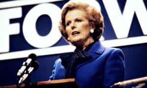 Margaret Thatcher addresses the Tory conference in 1980