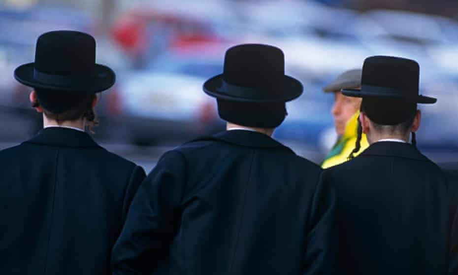 Members of the Hasidic community in Stamford Hill, north London.