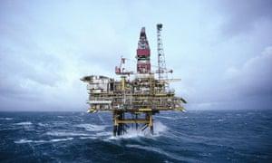 Bravo Brent Night Offshore Oil Platform Rig Sea