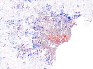Detroit population change