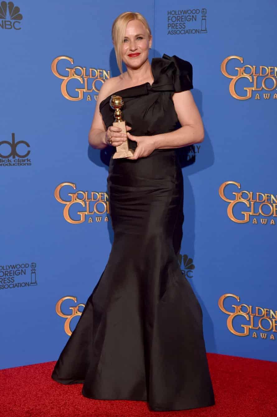 Patricia Arquette winning a Golden Globe