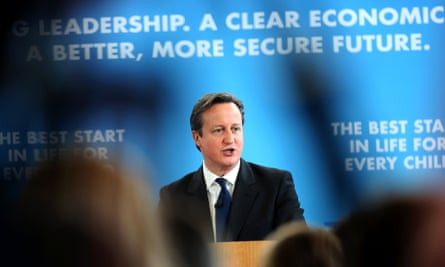 David Cameron speaks at Kingsmead school in Enfield where he set out the Conservative party's education policy.