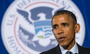 Barack Obama sets out his budget proposals in a speech at the Department of Homeland Security in Washington, DC.