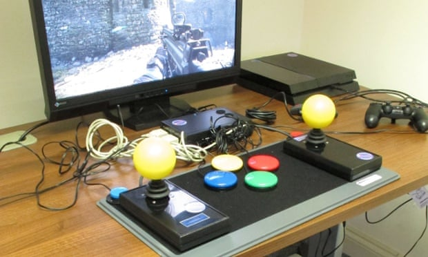 A specialist controller used by SpecialEffect.