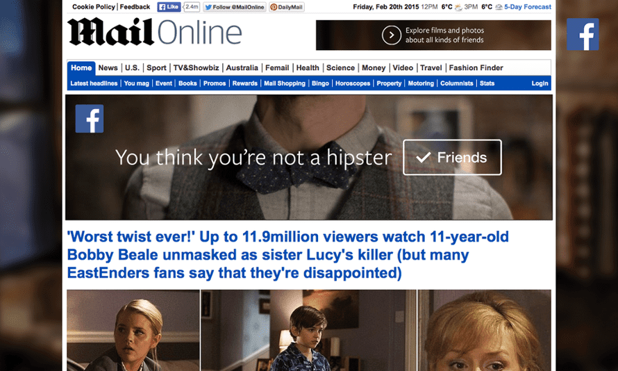 Mail Online: broke the 200 million monthly uniques barrier in January
